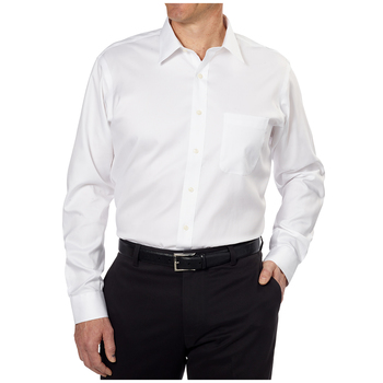Kirkland Signature Men's Long Sleeve Dress Shirt White