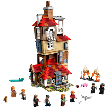 Lego Harry Potter Attack On Burrow Construction Toy Playset 75980