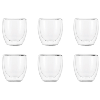 Bodum Pavina Double Wall Glasses 6 x 250ml