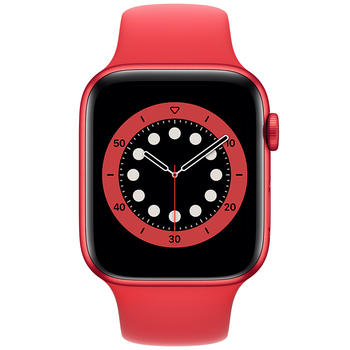 Apple Watch Series 6 (GPS) 44mm Red Aluminium Case with Red Sport Band M00M3X/A
