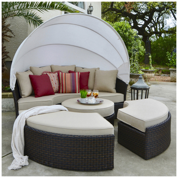 Palau Daybed 4 Piece With Canopy