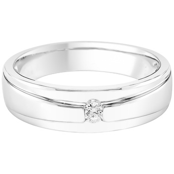 Round Brilliant Cut 0.10ctw Men's Diamond Ring