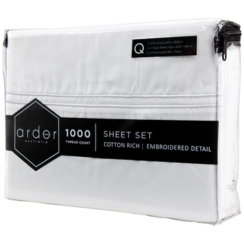 Ardor 1000 TC Hotel Embroidered King Sheet Set
