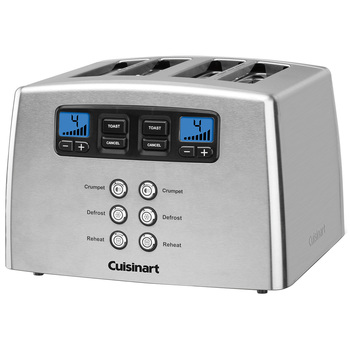 Cuisinart Stainless Steel Motorised 4 Slice Toaster CPT-440MRXA