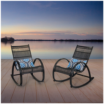 Agio Sunset 2 Pack Woven Rockers