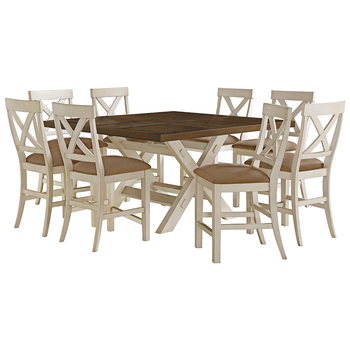 Bayside Furnishings Square Counter Height Dining Set 9pc