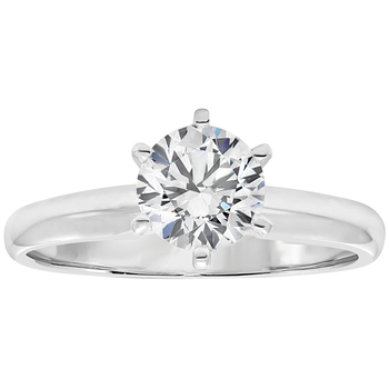 Round Brilliant 1.00ctw Platinum Diamond Solitaire Ring