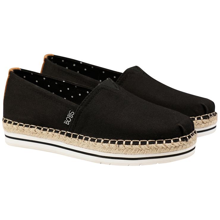 Skechers Women's Bobs Canvas Shoe Black