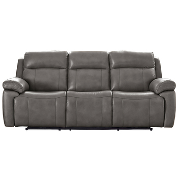 Prospera Home Atticus Leather Sofa Grey