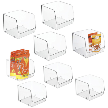 iDesign Stacking Open Front Pantry Bins 8-piece Set