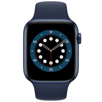 Apple Watch Series 6 (GPS) 44mm Blue Aluminium Case with Deep Navy Sport Band M00J3X/A