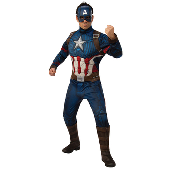 Rubies Men's Marvel Comics Avenger 4 Captain America Deluxe Costume