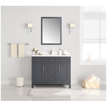 OVE Lakeview 1067mm Dark Charcoal Vanity