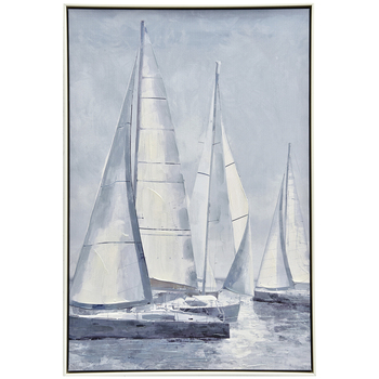 NF Living Wingsails Framed Painting 60 x 90cm