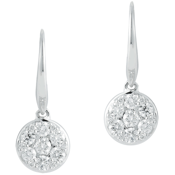 Round Brilliant Cut 0.72ctw 18KT White Gold Diamond Earrings