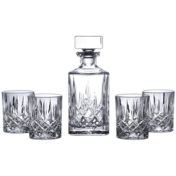 Royal Doulton Square Decanter with 4 Tumblers