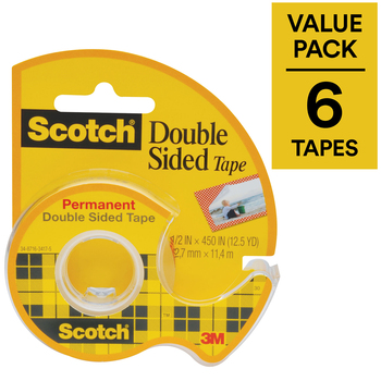 Scotch Double Sided Tape 6pk