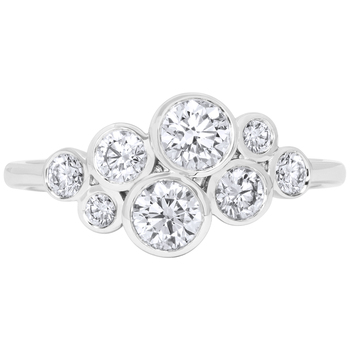 18KT White Gold 0.85ctw Round Brilliant Cut Diamond Ring