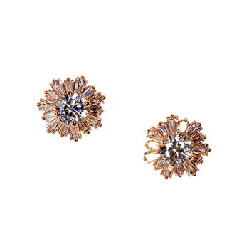 Swarovski Sunshine Pierced Earrings Rose Gold Plated