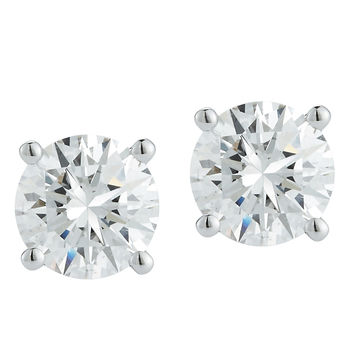 Round Brilliant 0.75ctw 18KT White Gold Diamond Solitaire Studs