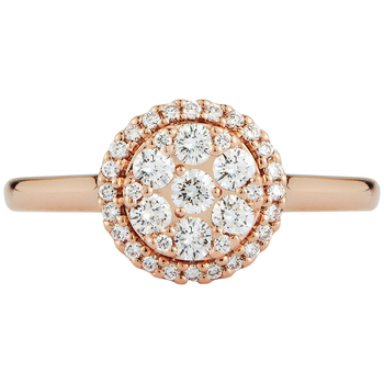 Round Brilliant 0.52ctw 18KT Rose Gold Diamond Ring
