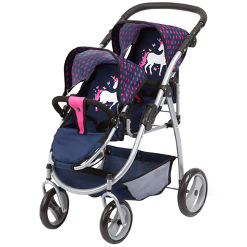 Bayer Twin Tandem Doll Pram
