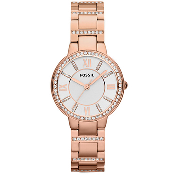 Fossil Virginia Rose Gold Tone Analogue Women's Watch ES3284
