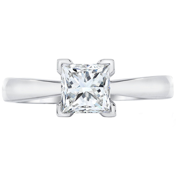 Princess 0.75ctw 18KT White Gold Diamond Solitaire Ring