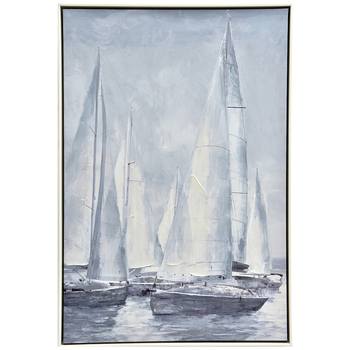 NF Living Sailing Framed Painting 60 x 90cm