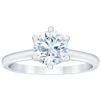 Round Brilliant 0.50ctw 18KT White Gold Diamond Solitaire Ring