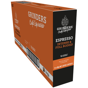 Grinders Caffitaly Espresso Capsules 8 x 80g