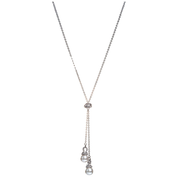 Swarovski White Rhodium Plated Originally Y-Shaped Necklace