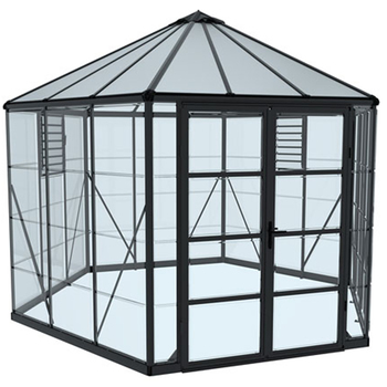 Palram Oasis Greenhouse 30.5cm with Dark Grey Frame