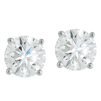 Round Brilliant 1.00ctw 18KT White Gold Diamond Solitaire Studs
