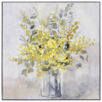 NF Living Yellow Bloom Framed Painting