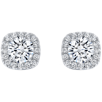 18KT White Gold 1.72ctw Round Brilliant Cut Diamond Earrings