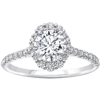 Platinum 1.32ctw Round Brilliant Cut Diamond Ring