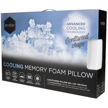 Ardor Cooling Contoured Memory Foam Pillow