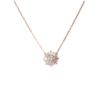 Swarovski White Rose-gold Tone Plated Sunshine Pendant