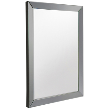 Hudson Living Lunda Rectangle Euro Grey Mirror 915 x 610mm