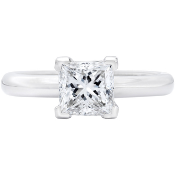 Princess Cut 3.00ctw Diamond Platinum Ring