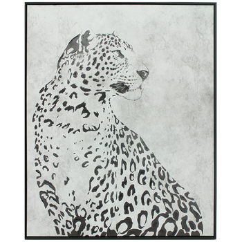 NF Living Snow Leopard Framed Oil Painted Canvas