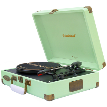 mbeat Woodstock II Tiffany Green Turntable Player MB-TR96TGN
