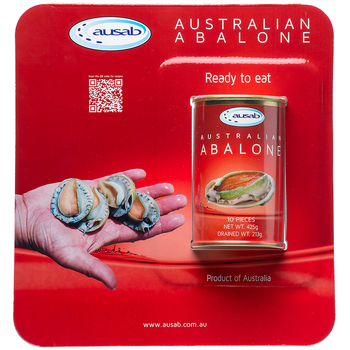 Ausab Australian Abalone Canned 425g 10pc