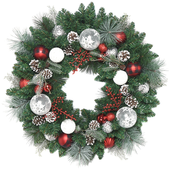 Decorated Christmas Wreath 76.2cm
