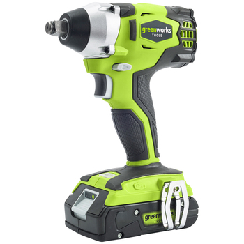 Greenworks 24V Brushless Impact Wrench Kit with 2AH Battery & Fast Charger