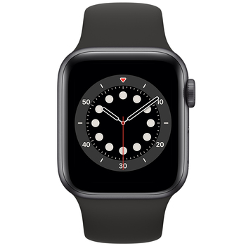 Apple Watch Series 6 (GPS) 40mm Space Grey Aluminium Case with Black Sport Band MG133X/A