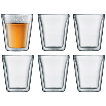 Bodum Canteen Double Wall Glass Set 6 x 200ml