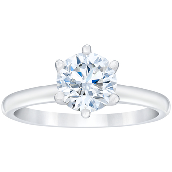 18KT White Gold Round Brilliant Cut 0.75CTW Diamond Solitaire Ring