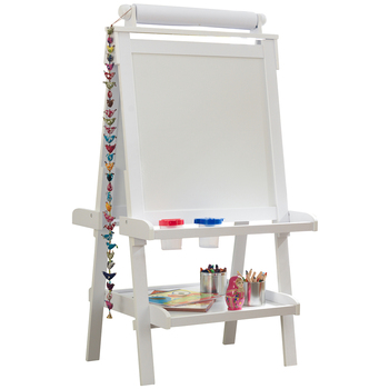 KidKraft Artist Easel with Paper Roll White